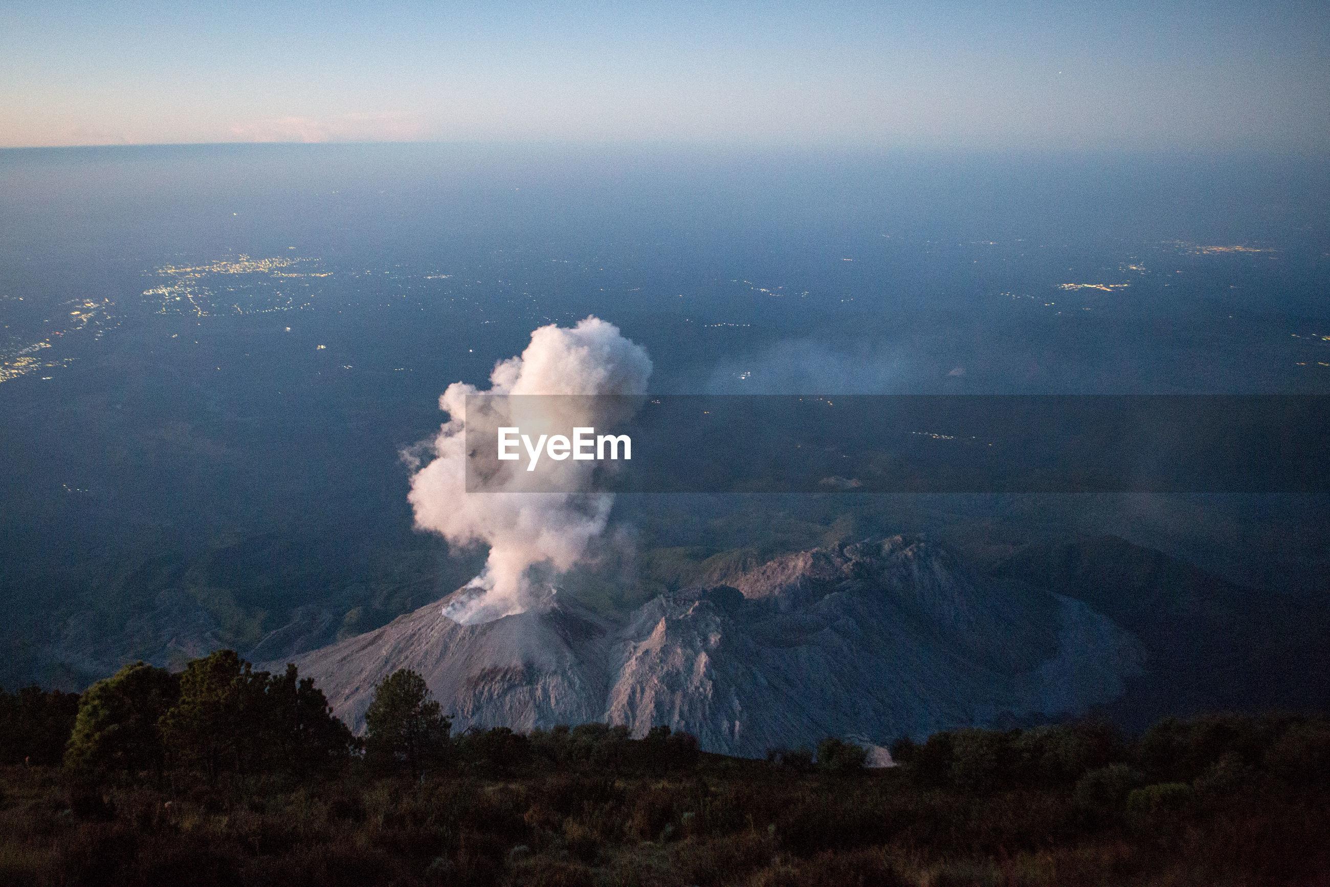 High angle view of santa maria volcano