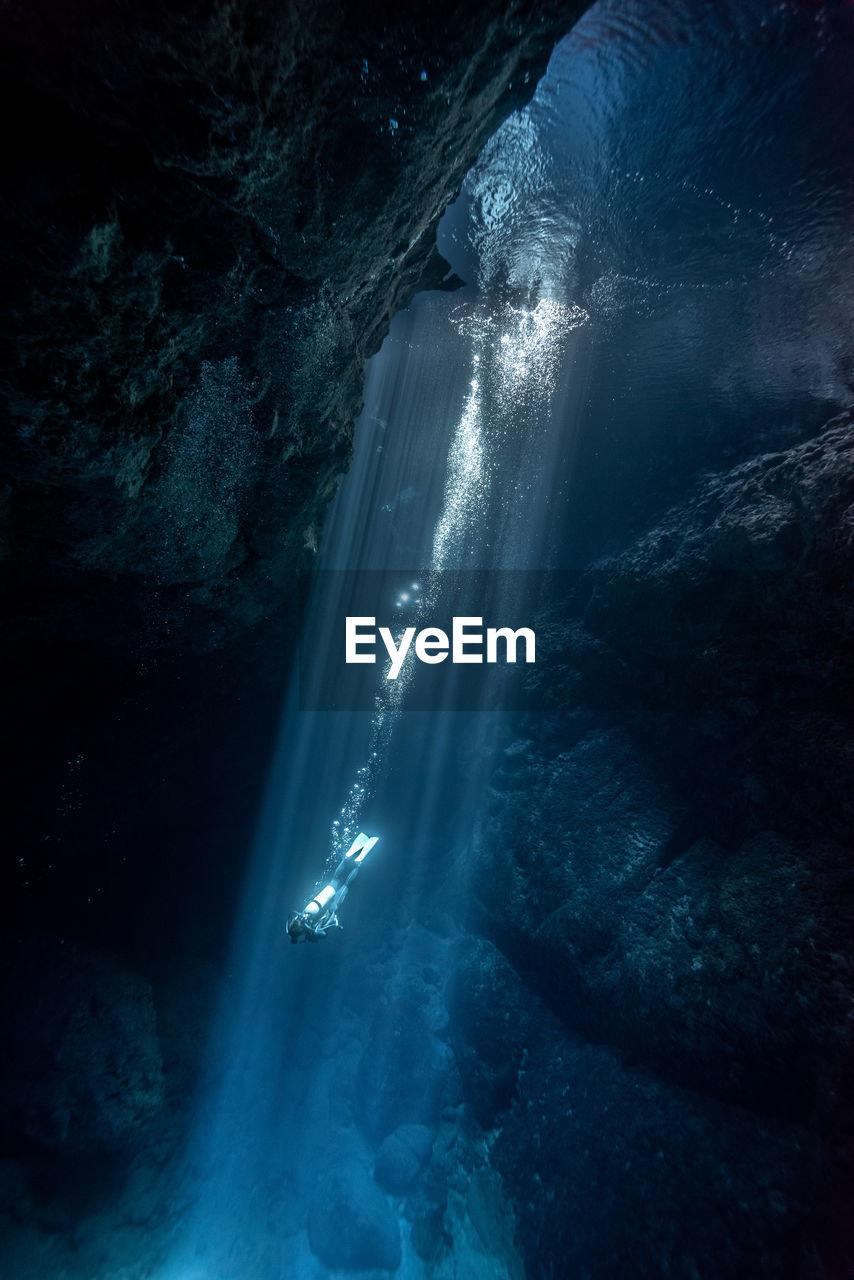 Person Diving In Sea