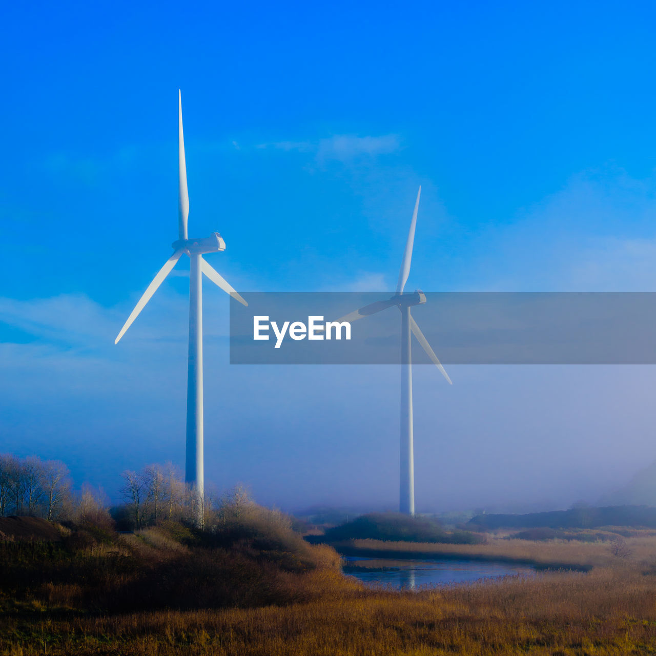 renewable energy, alternative energy, wind turbine, turbine, environmental conservation, fuel and power generation, wind power, environment, sky, landscape, field, blue, nature, land, technology, rural scene, beauty in nature, no people, non-urban scene, scenics - nature, outdoors, sustainable resources, power in nature