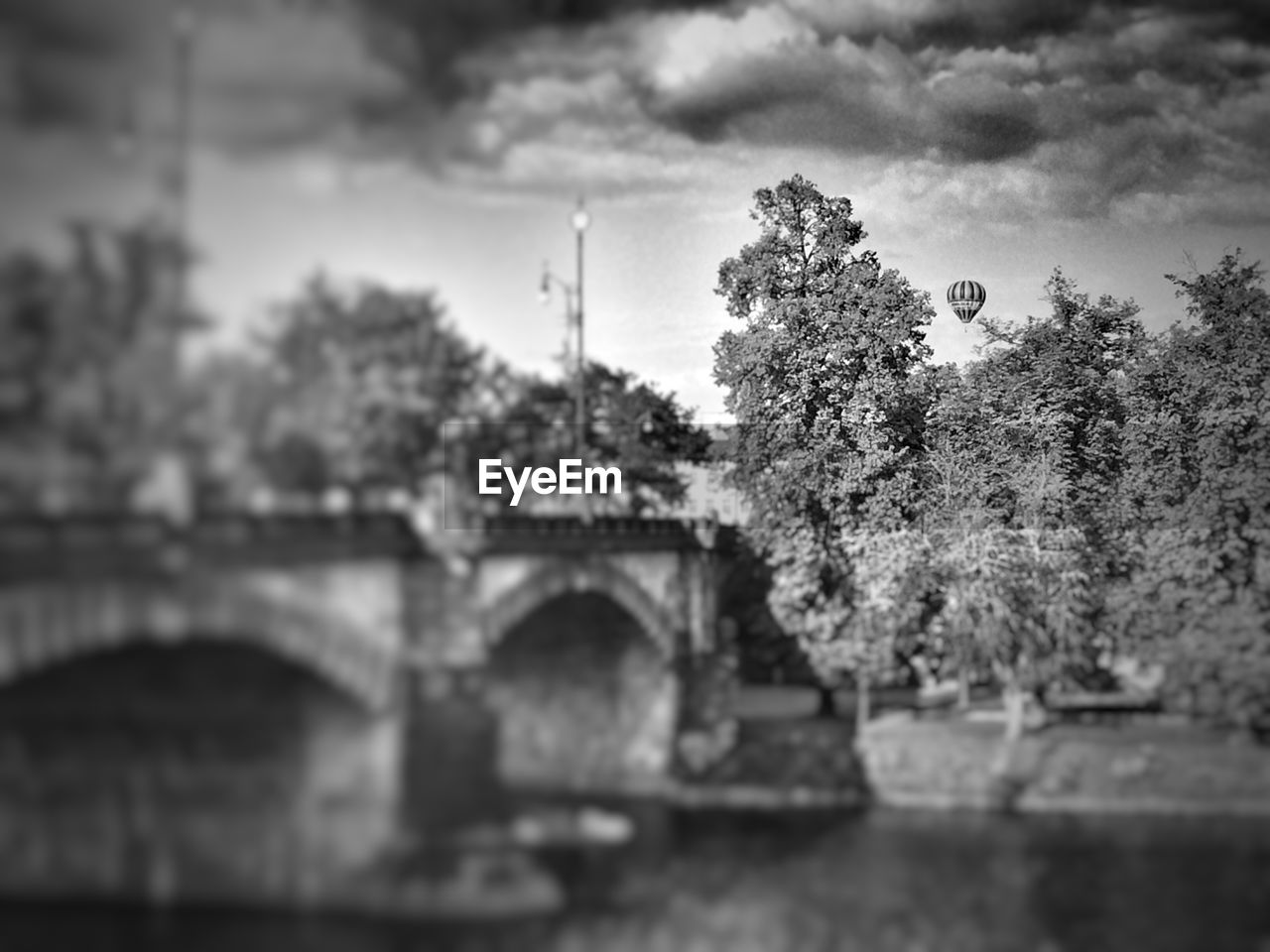 tree, plant, architecture, built structure, sky, arch, bridge, connection, nature, cloud - sky, bridge - man made structure, history, no people, day, the past, building exterior, outdoors, water, growth, building, arch bridge