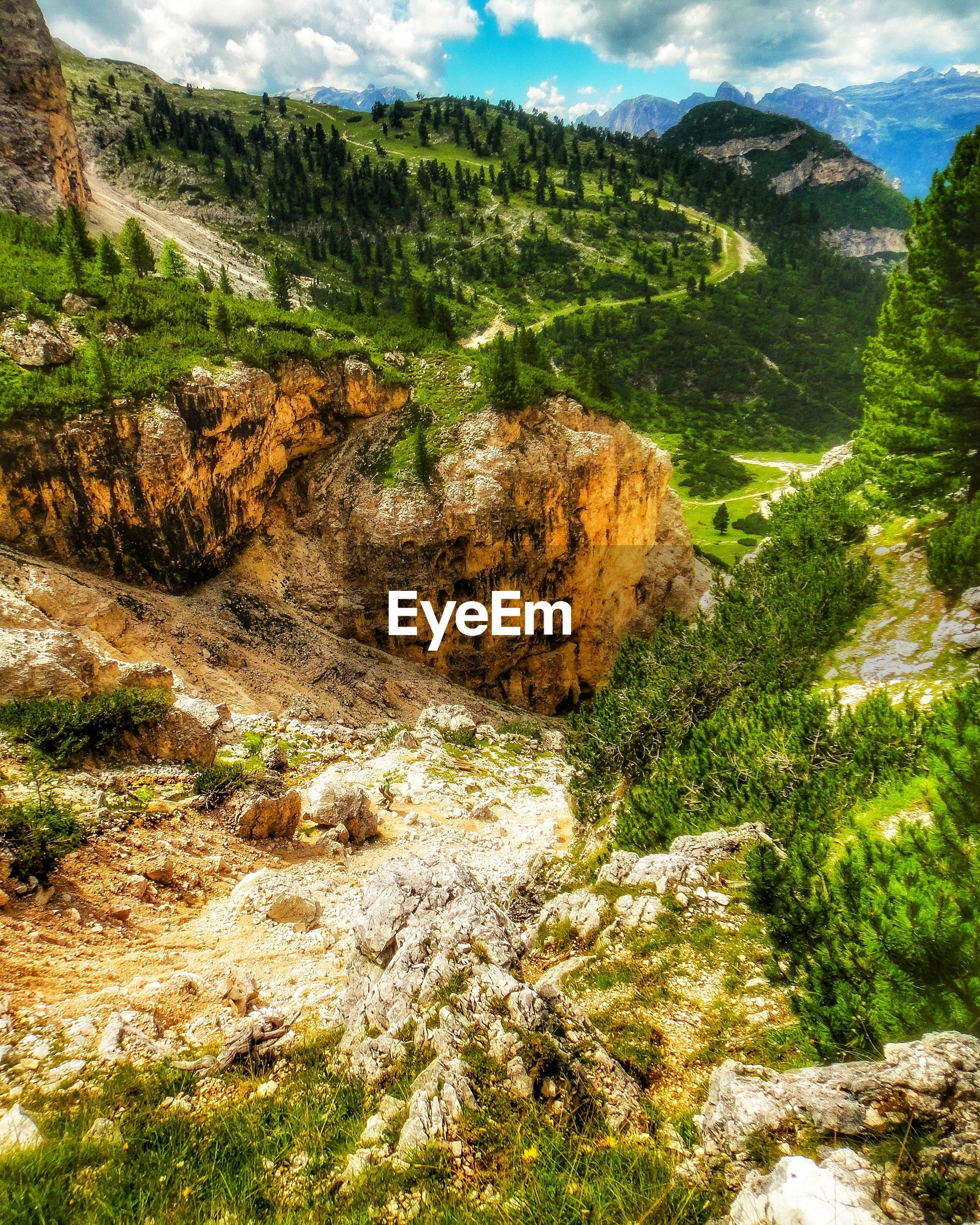 View of rocks on landscape