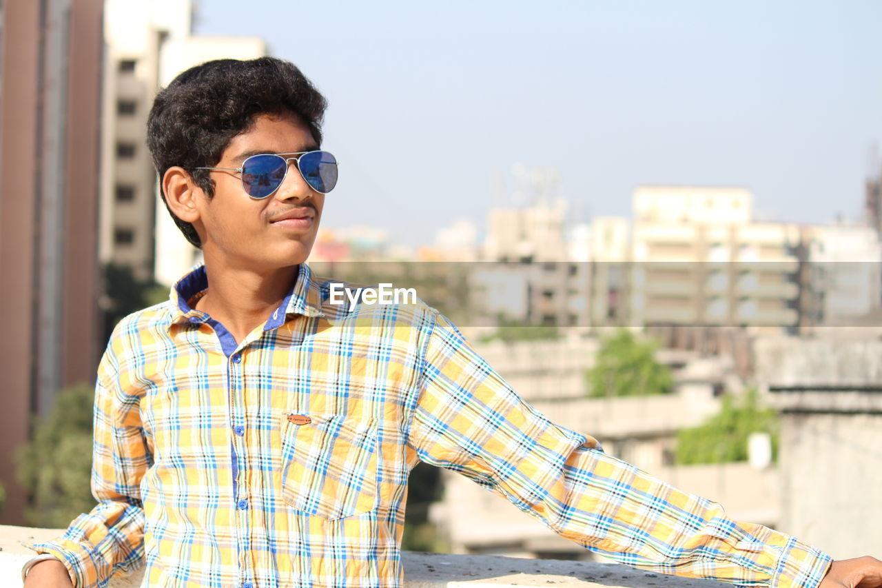 Teenage Boy In City