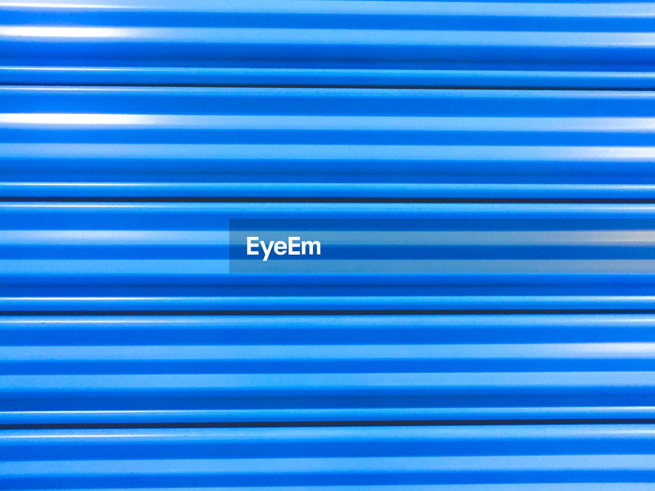 Full Frame Shot Of Blue Striped Pattern