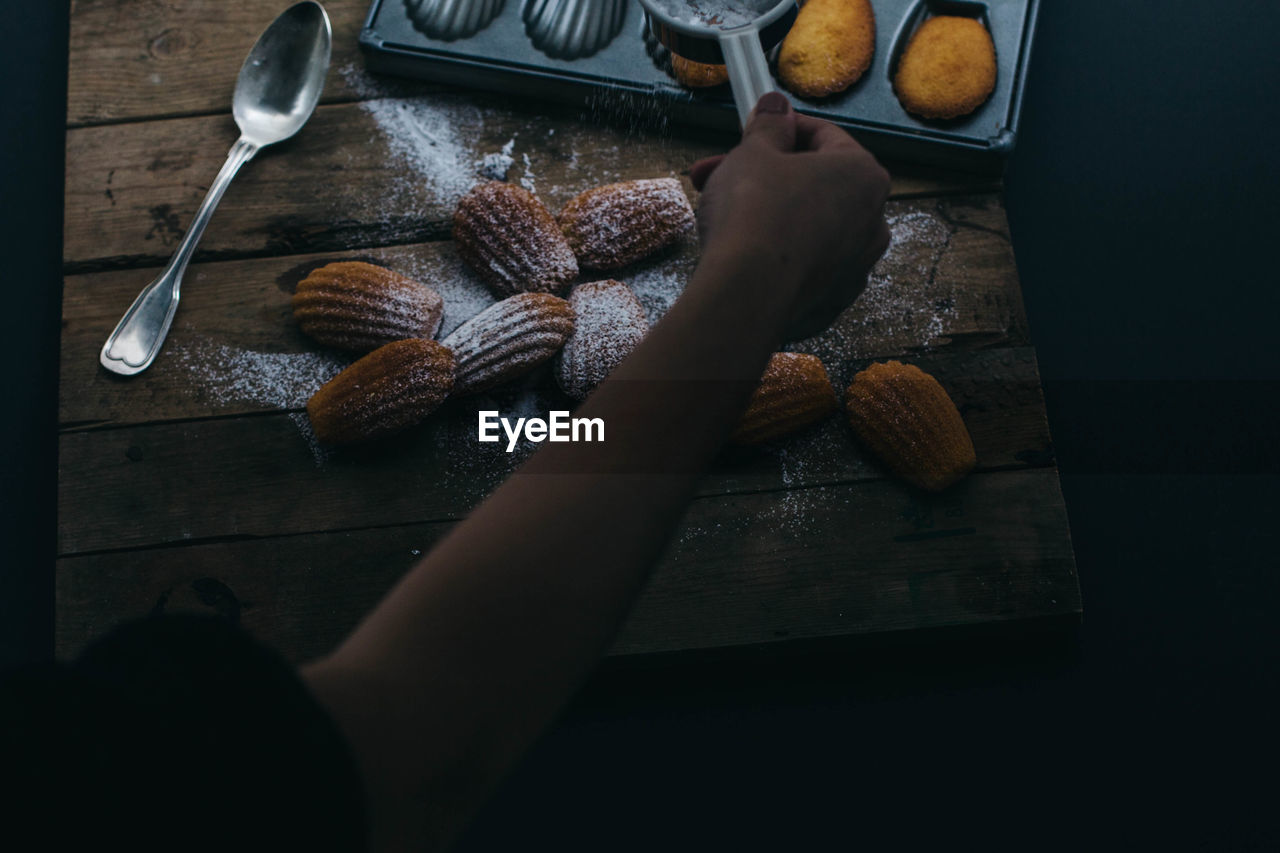 Cropped Image Of Person Making Dessert