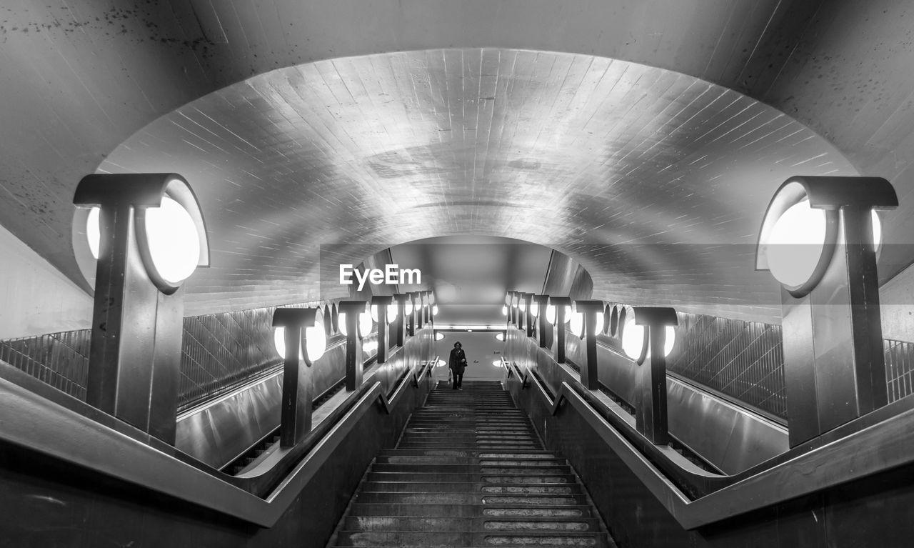 Person Walking At Subway Station