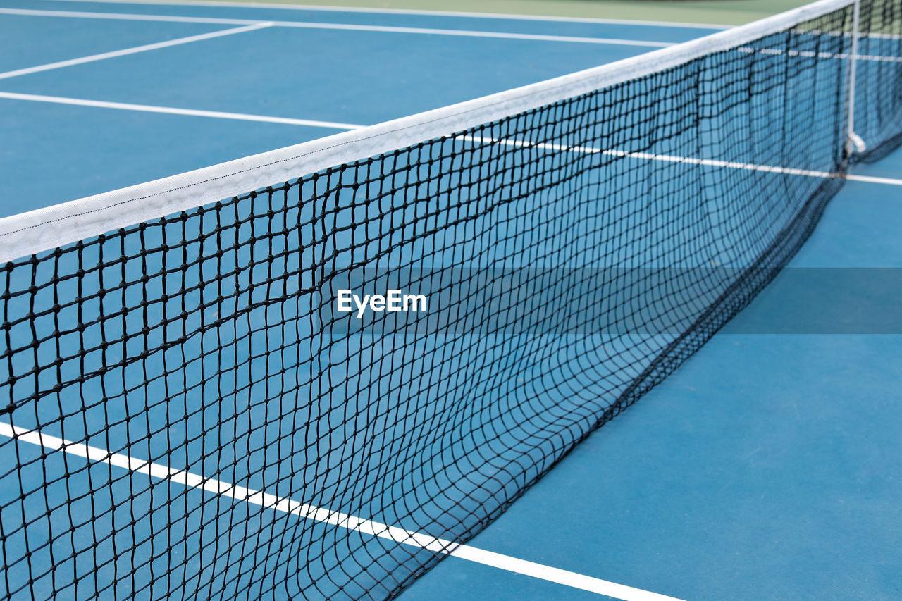 Tennis net in court