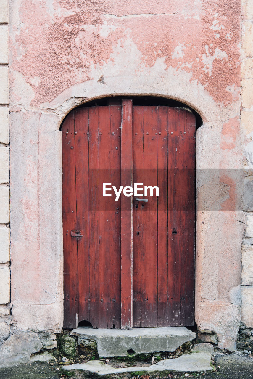 entrance, door, closed, architecture, building exterior, safety, built structure, security, protection, wood - material, no people, old, day, building, wall, outdoors, weathered, house, arch, the past
