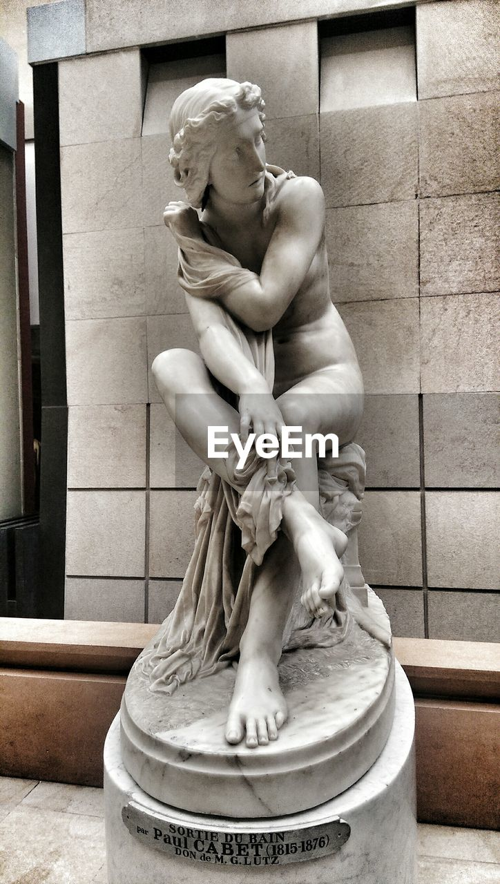 statue, human representation, sculpture, male likeness, art and craft, indoors, day, architecture, no people