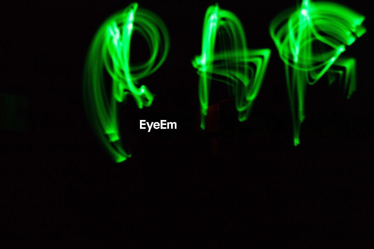 green color, illuminated, black background, no people, night, studio shot, close-up, multi colored, technology, indoors, neon