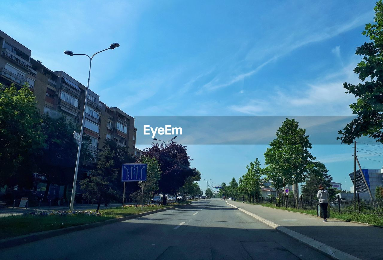 STREET AGAINST SKY