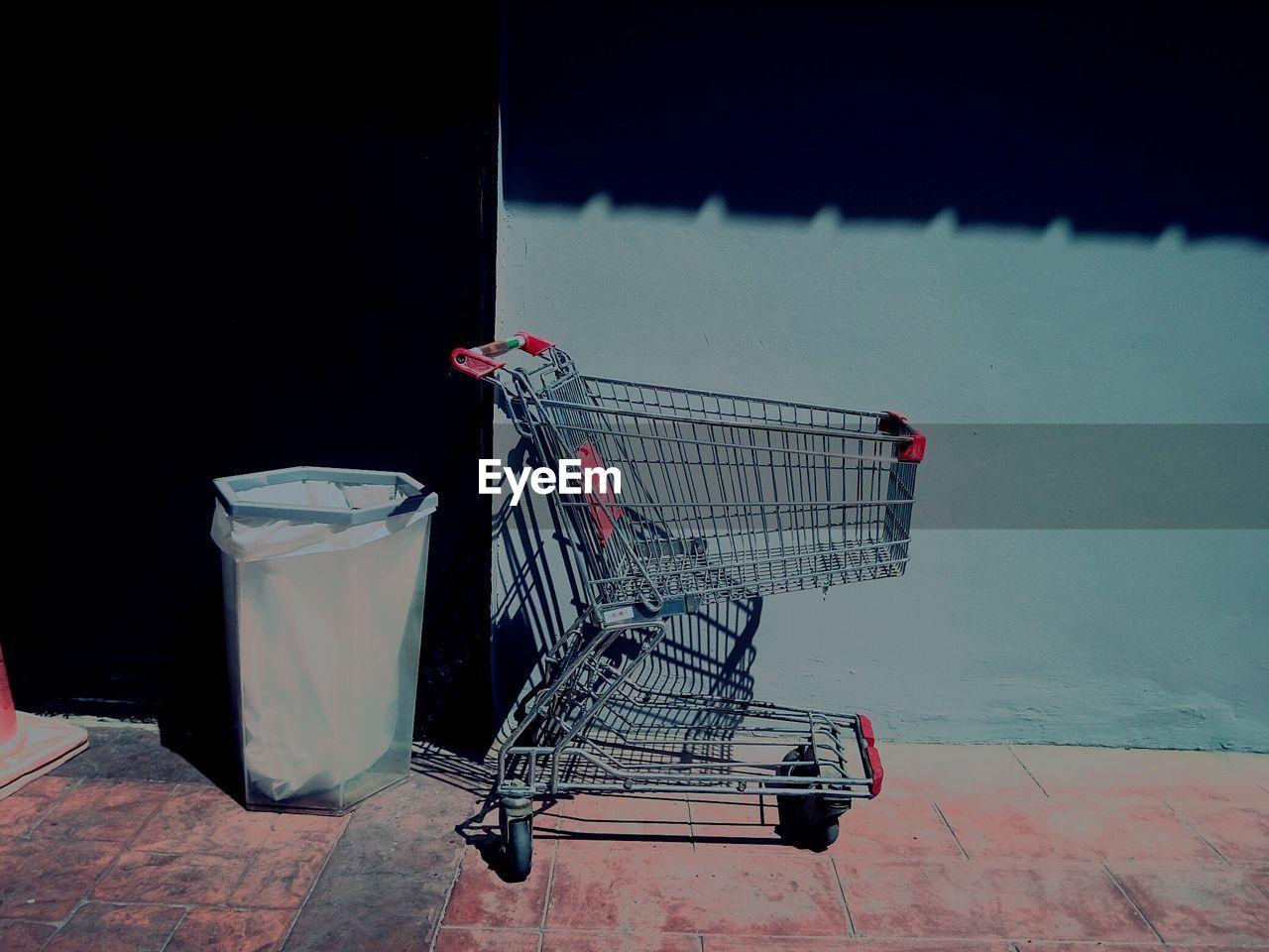 Metallic Shopping Cart