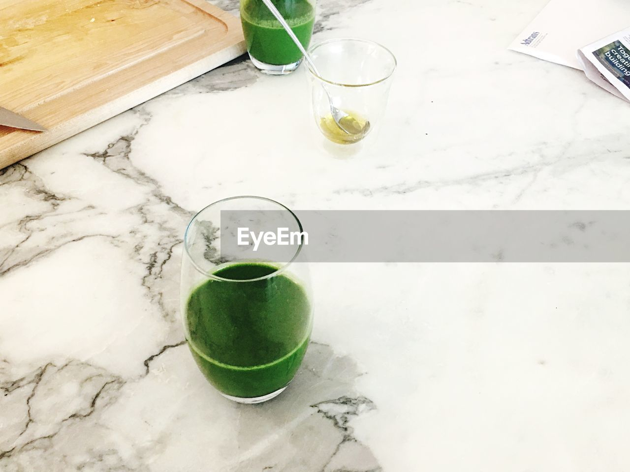 drink, drinking glass, refreshment, food and drink, green color, no people, indoors, table, freshness, frothy drink, close-up, healthy eating, day