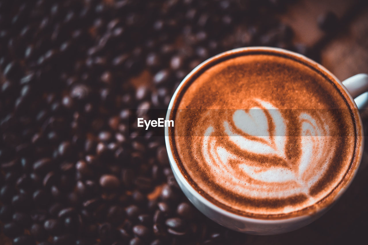 coffee, coffee - drink, coffee cup, drink, food and drink, cup, refreshment, mug, frothy drink, still life, cappuccino, froth art, hot drink, close-up, high angle view, freshness, creativity, indoors, no people, crockery, latte, froth, non-alcoholic beverage, caffeine