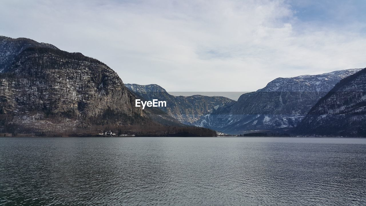 mountain, nature, beauty in nature, scenics, mountain range, tranquil scene, tranquility, waterfront, lake, water, no people, day, outdoors, sky, iceberg