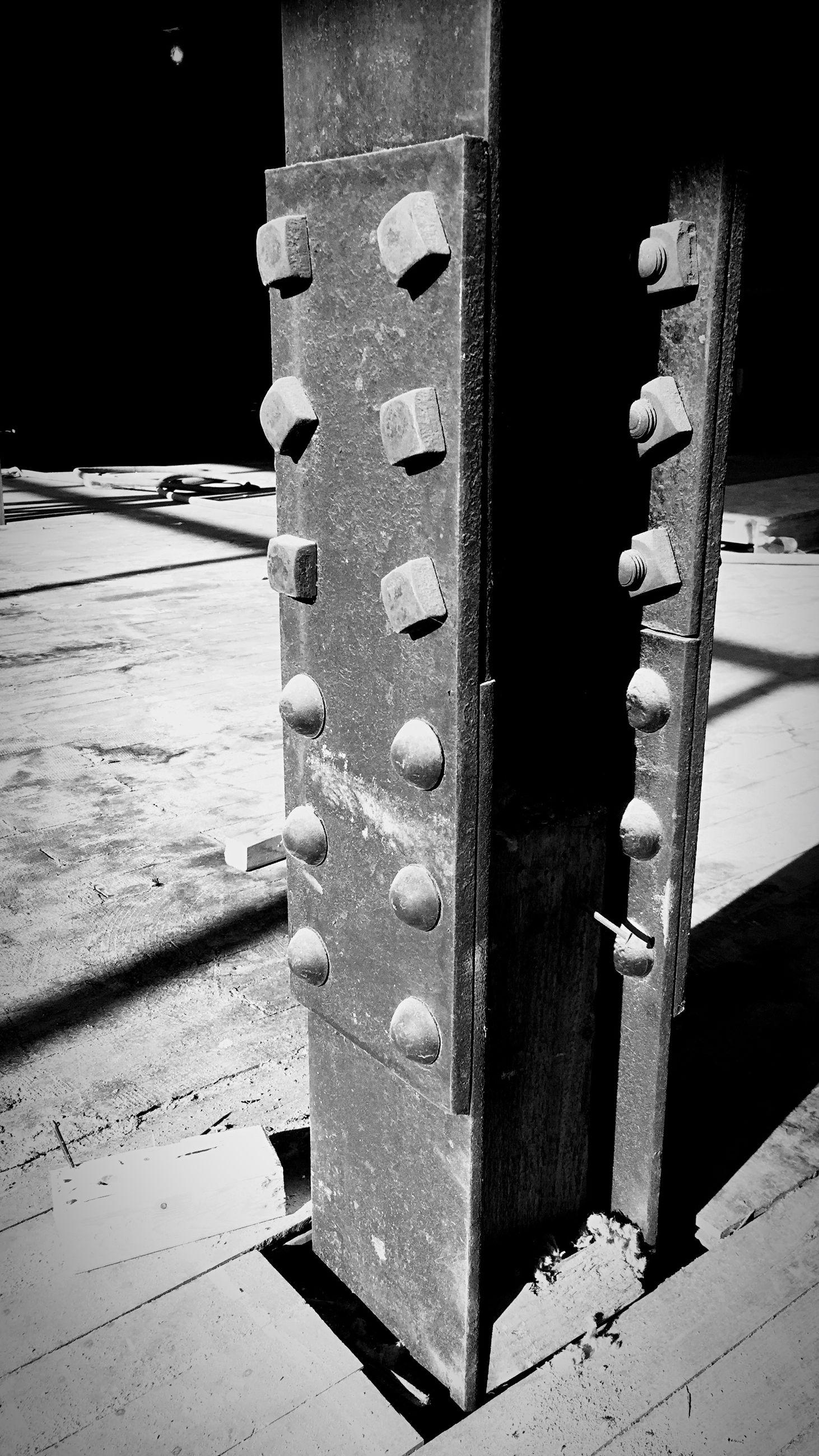 Close-up of metal girder