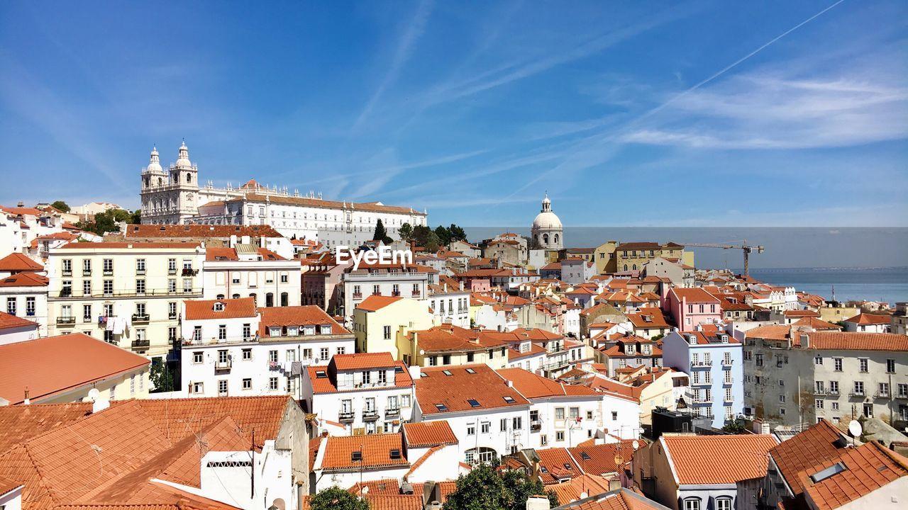 Lisbon Cityscape Against Sky