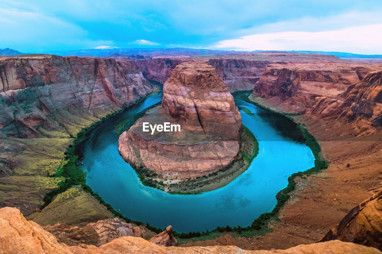 High Angle View Of The Horseshoe Bend