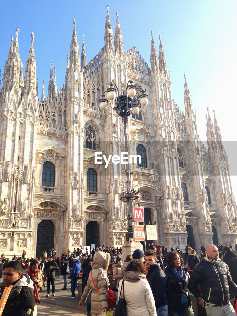 People Outside Milan Cathedral