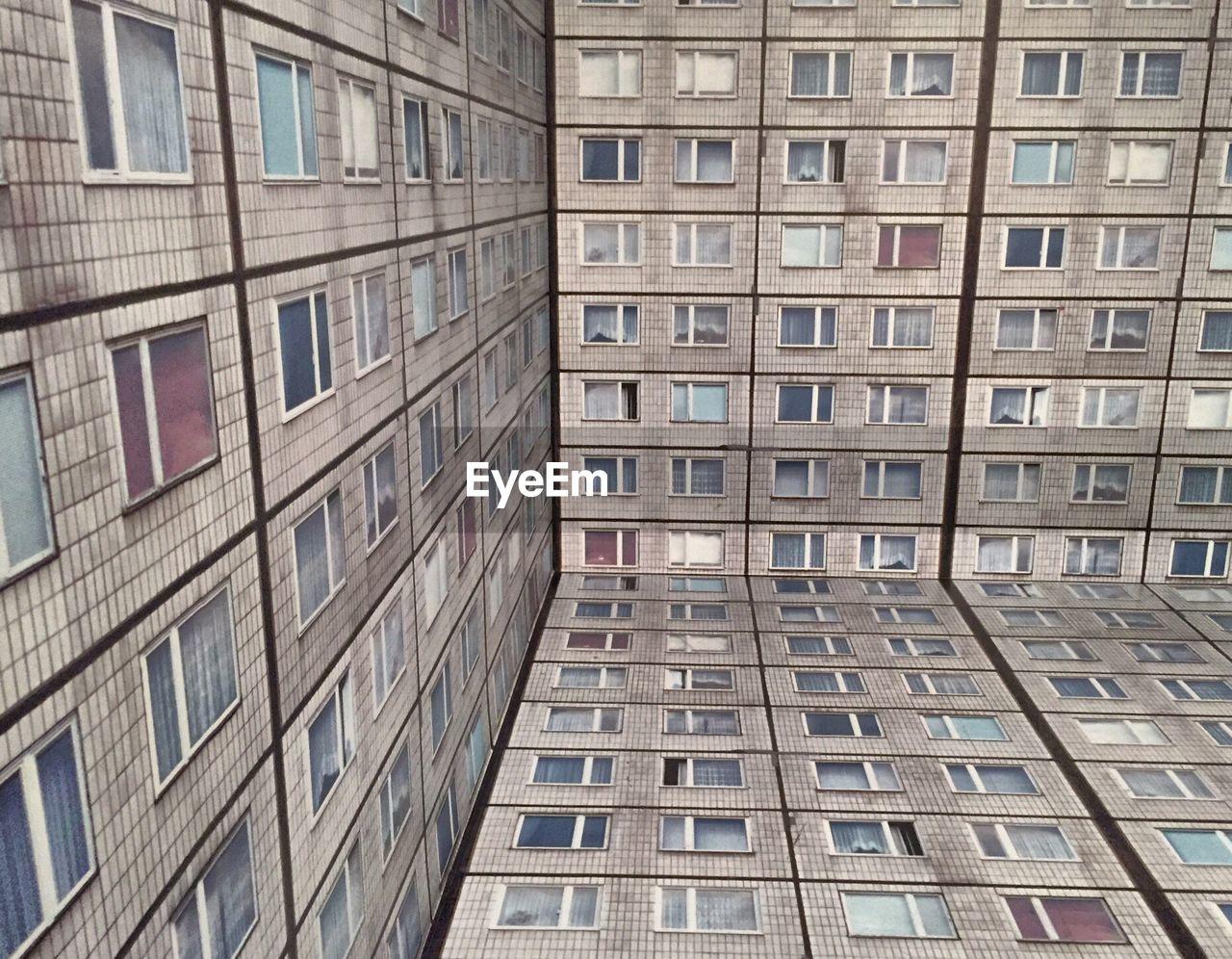 Full Frame Shot Of Buildings At New York City Museum Of Modern Art