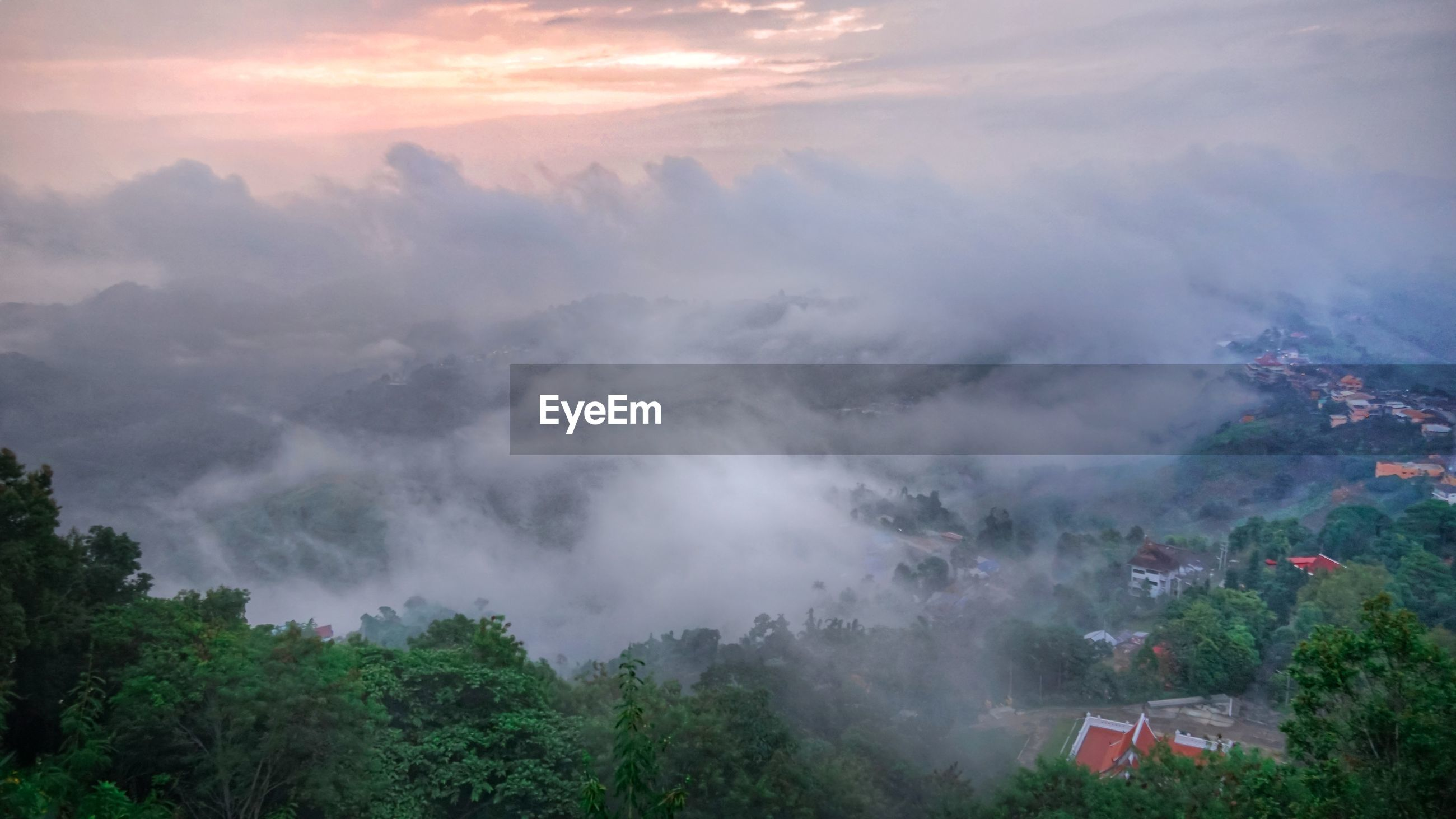HIGH ANGLE VIEW OF FOGGY WEATHER
