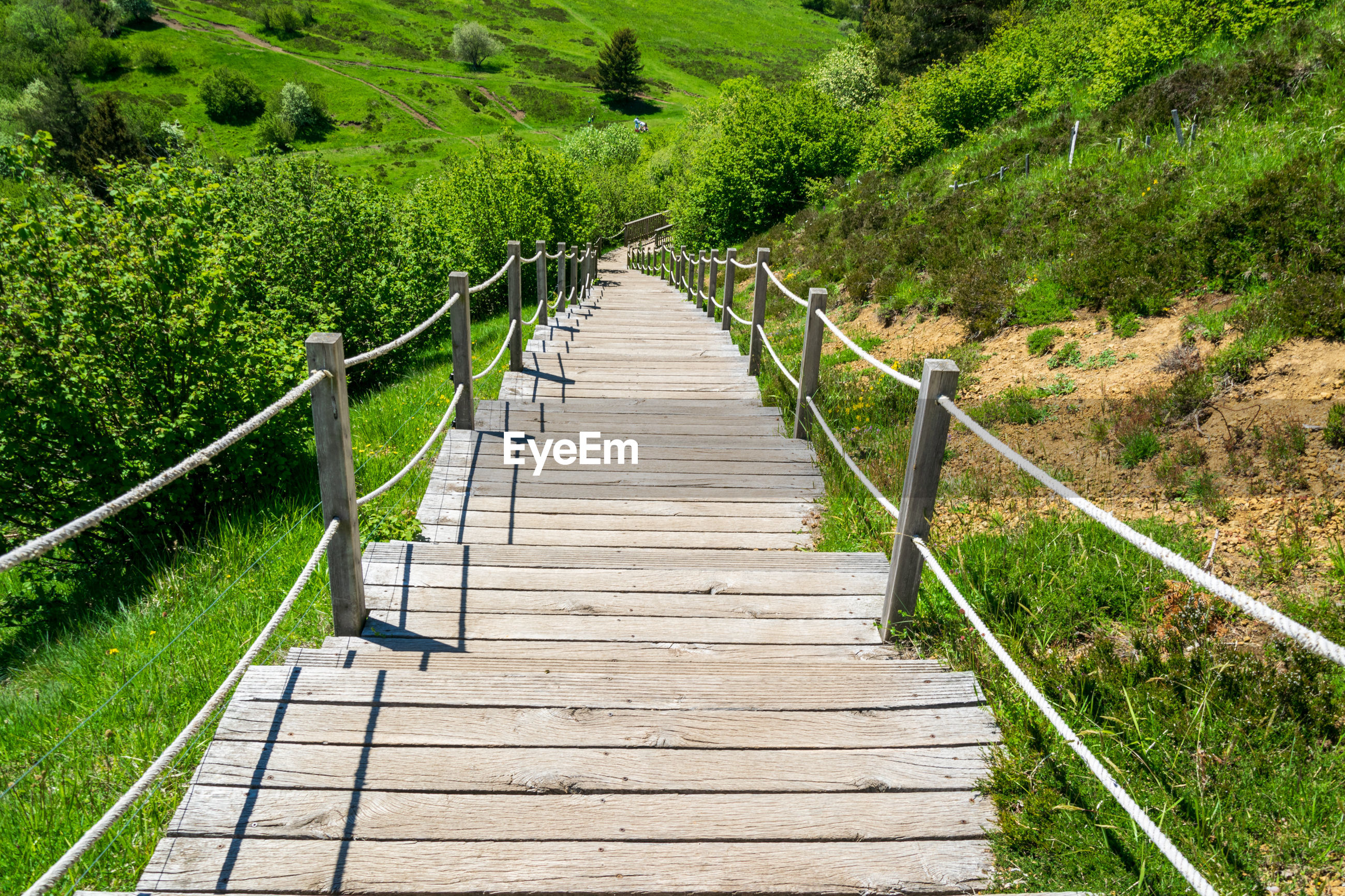 FOOTPATH LEADING TO WOODEN STRUCTURE
