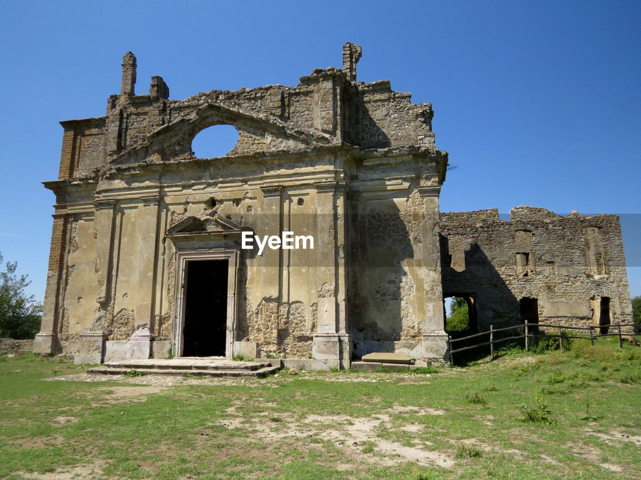 Low angle view of old ruin