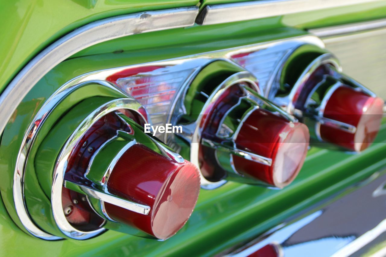 green color, no people, red, close-up, mode of transport, transportation, outdoors, day