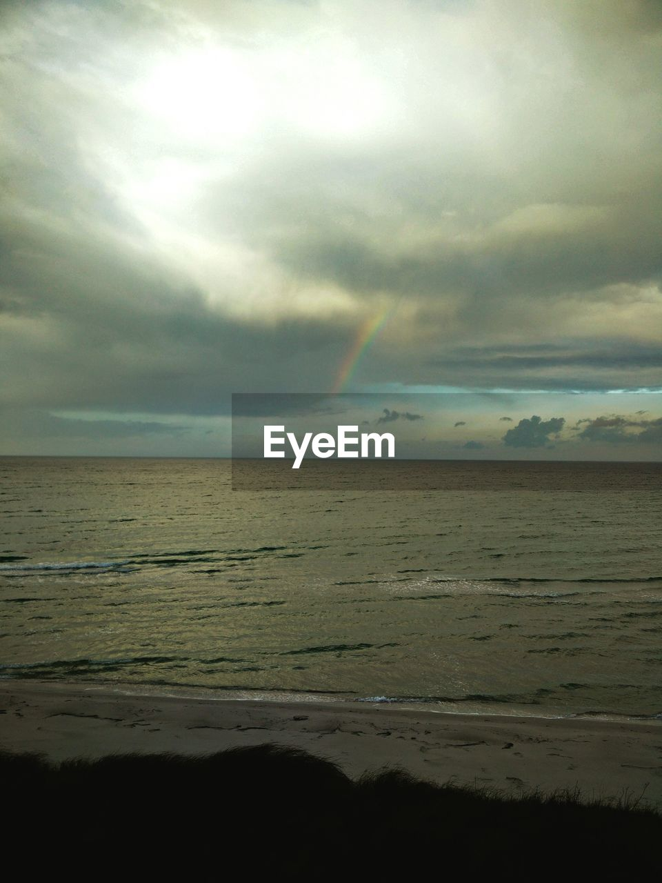 VIEW OF SEA AGAINST CLOUDY SKY