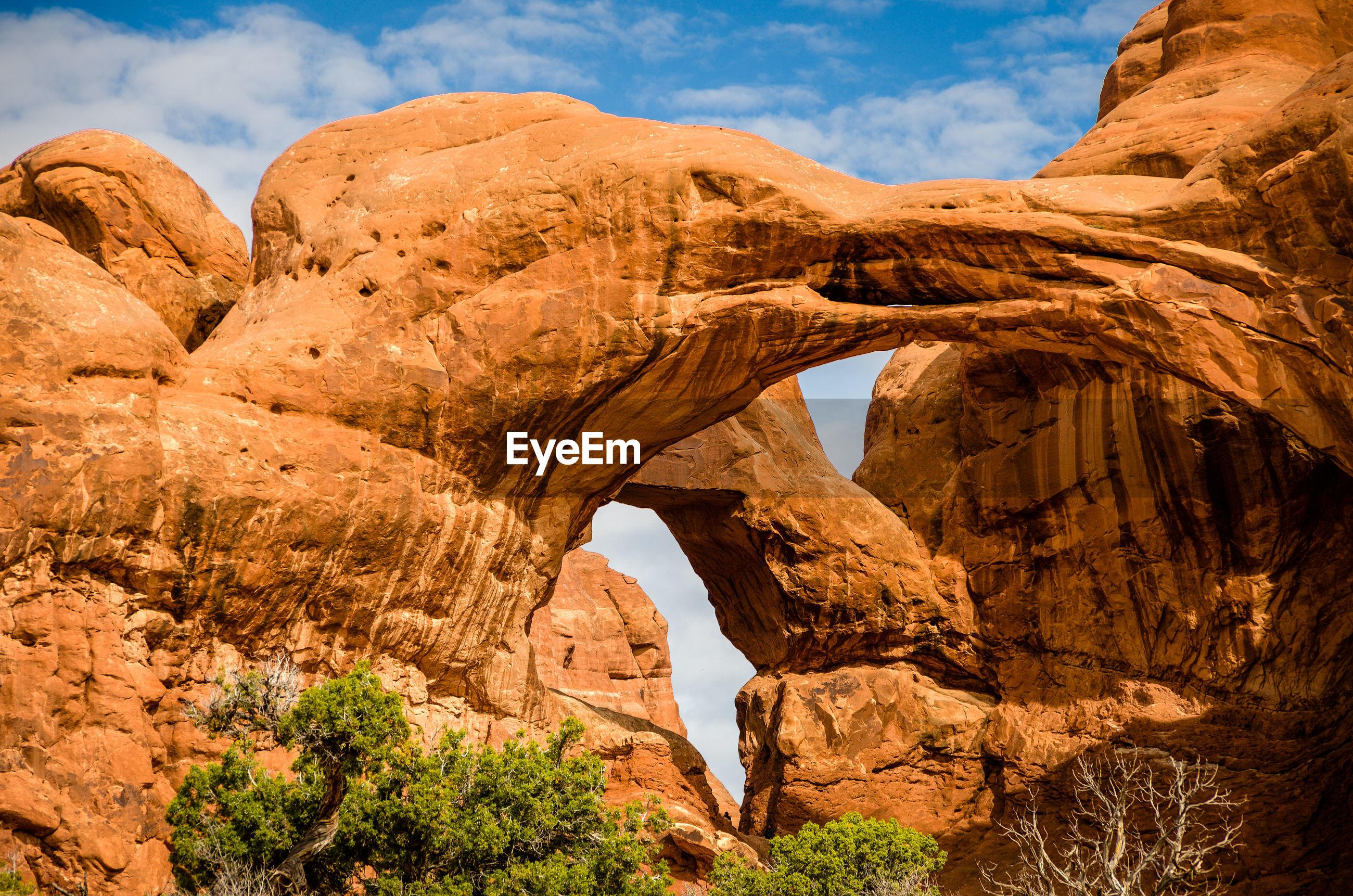Majestic rock formations in utah