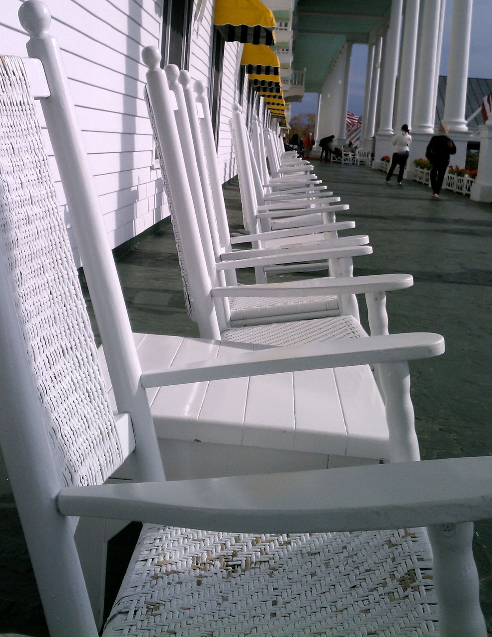 Row Of White Chairs