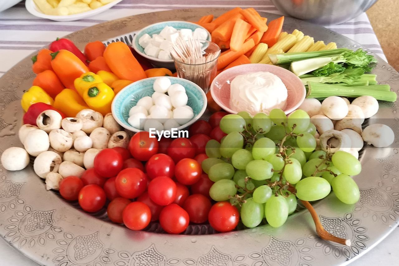 food, vegetable, food and drink, healthy eating, freshness, tomato, wellbeing, fruit, choice, variation, large group of objects, still life, no people, high angle view, bell pepper, pepper, onion, carrot, raw food, indoors