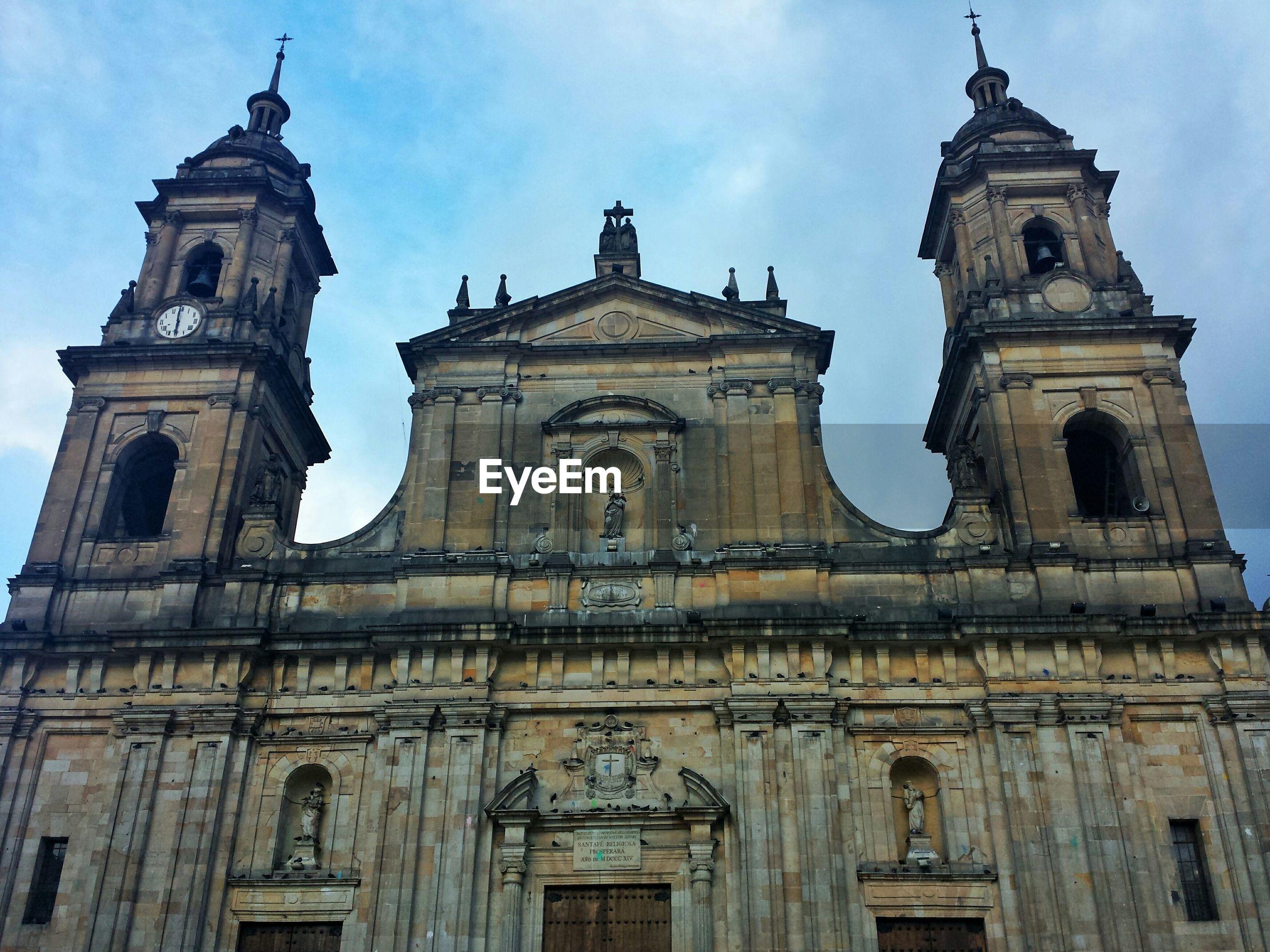 Primatial cathedral of bogota against sky