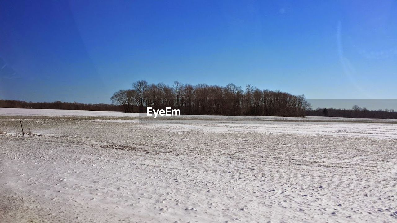 snow, winter, cold temperature, nature, outdoors, sky, day, blue, no people, clear sky, scenics, landscape, beauty in nature