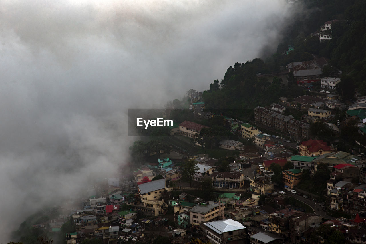 City and clouds nainital uttarakhand india