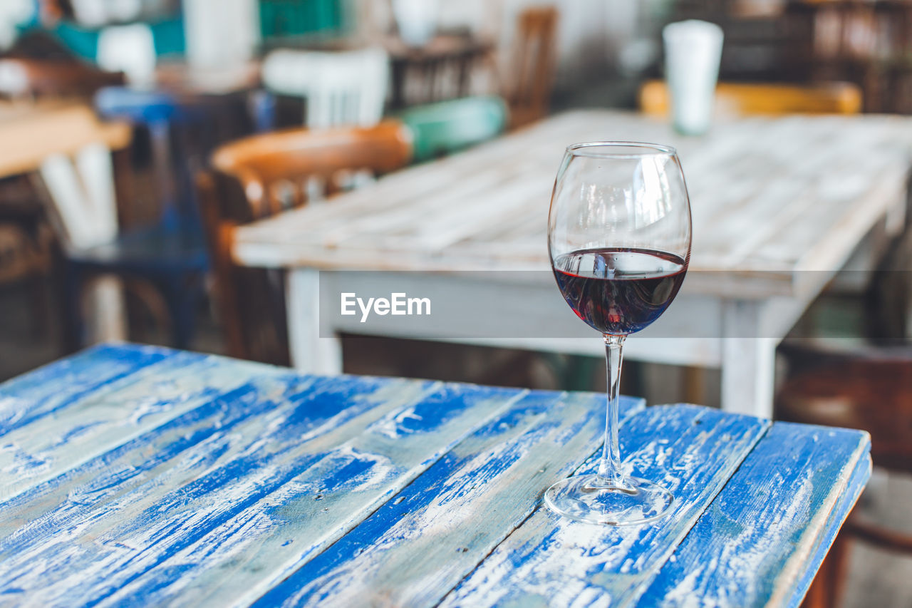 Wineglass On Table At Restaurant