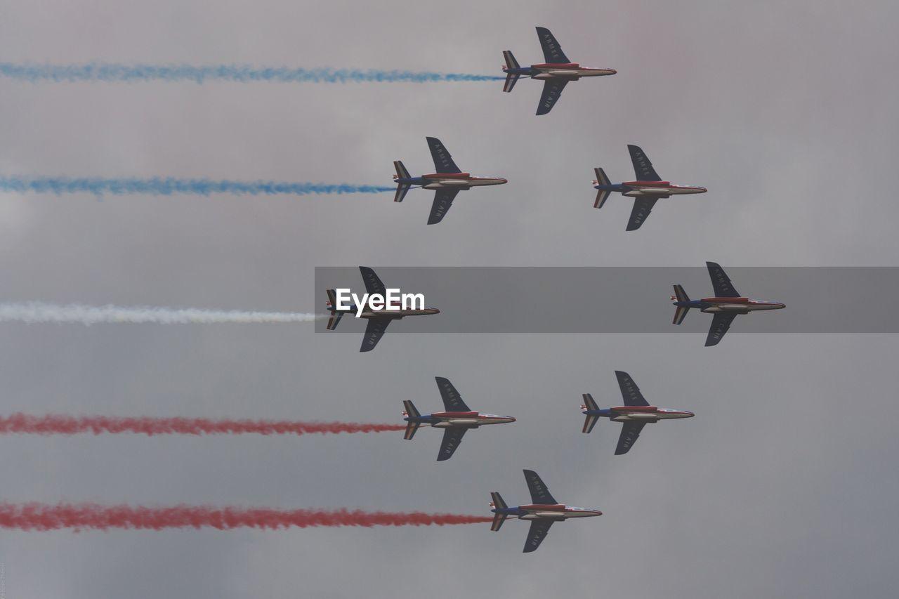 Directly Below Shot Of Airshow In Sky