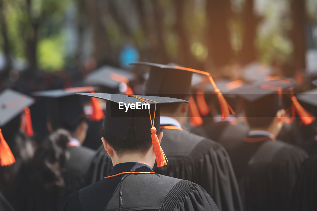 Students during graduation