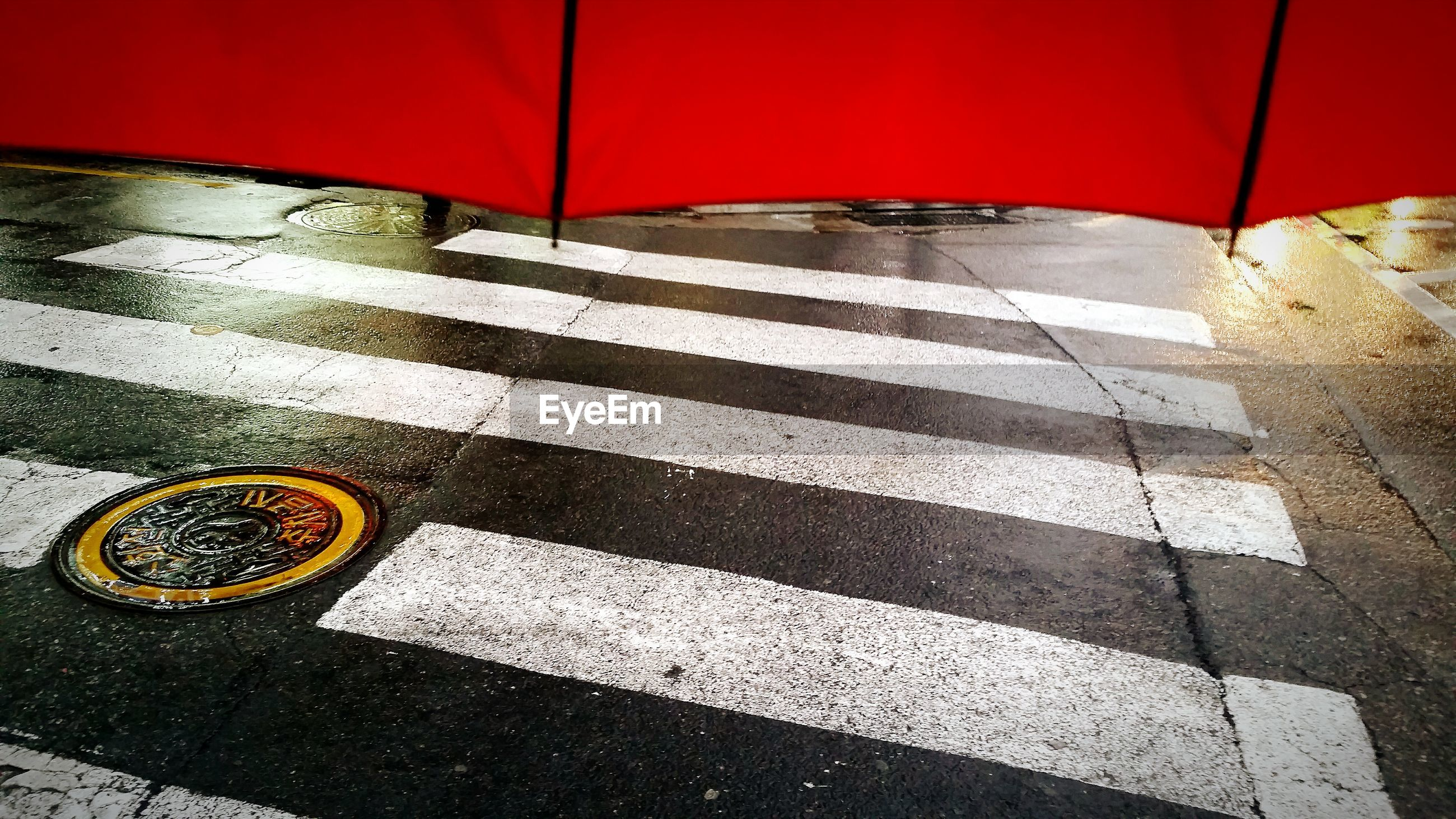 Manholes on road