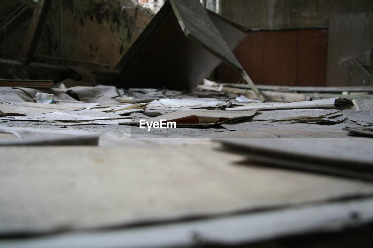 abandoned, destruction, bleak, indoors, desolate, no people, deserted