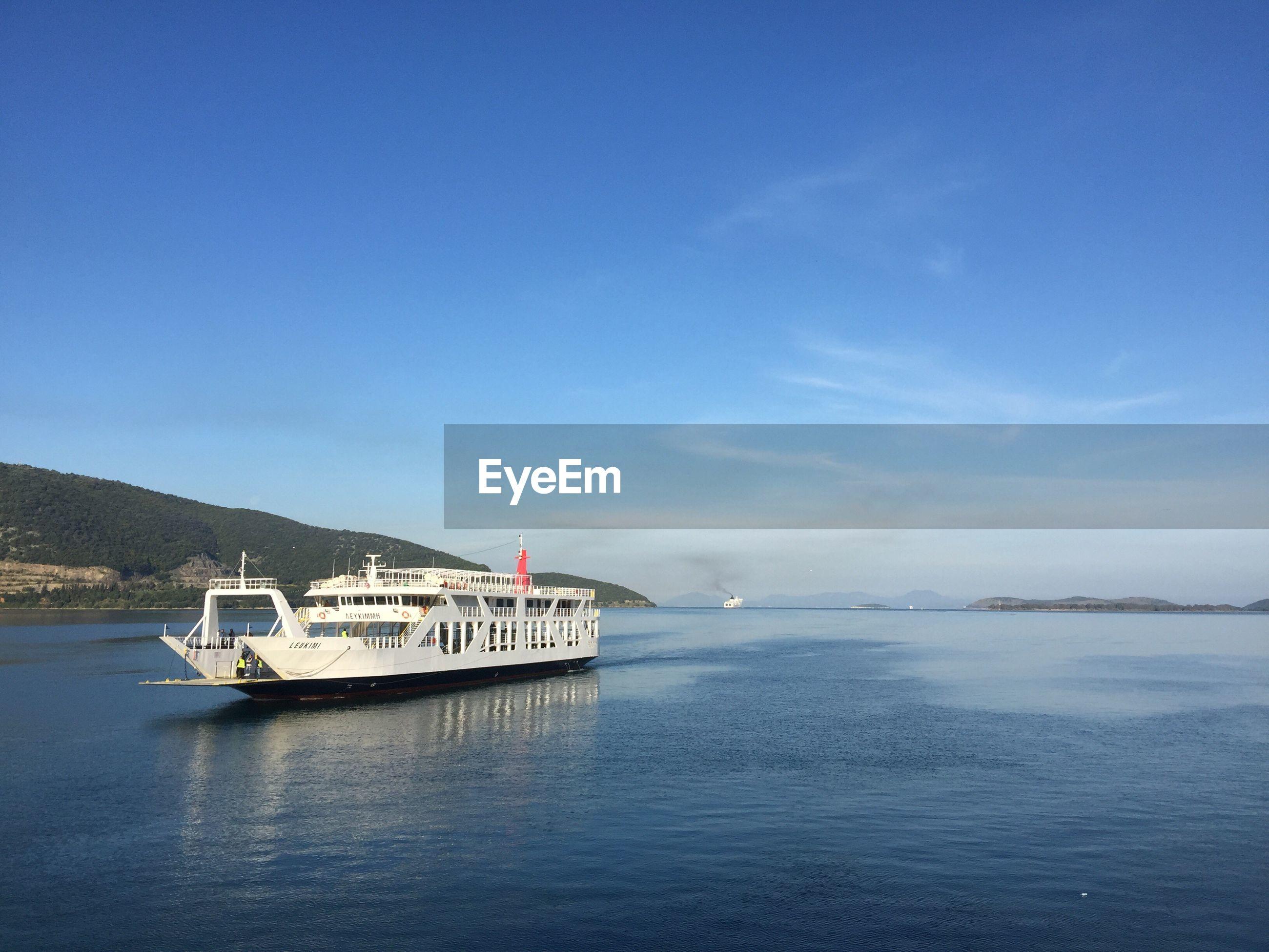 Ship on sea in greece