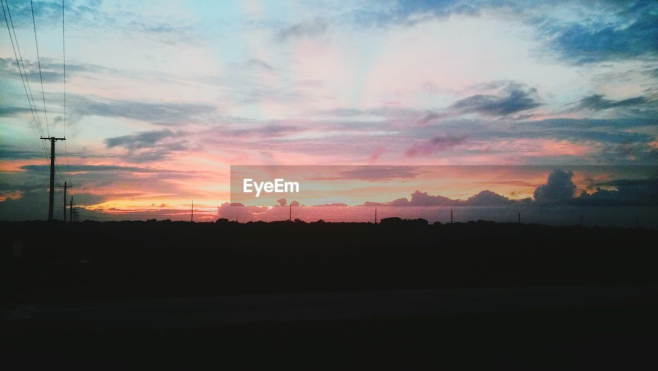 sunset, silhouette, sky, no people, cloud - sky, nature, beauty in nature, scenics, tranquil scene, outdoors, landscape, day