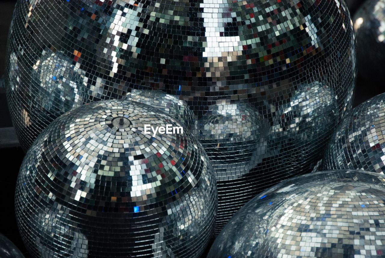 Close-Up Of Disco Balls