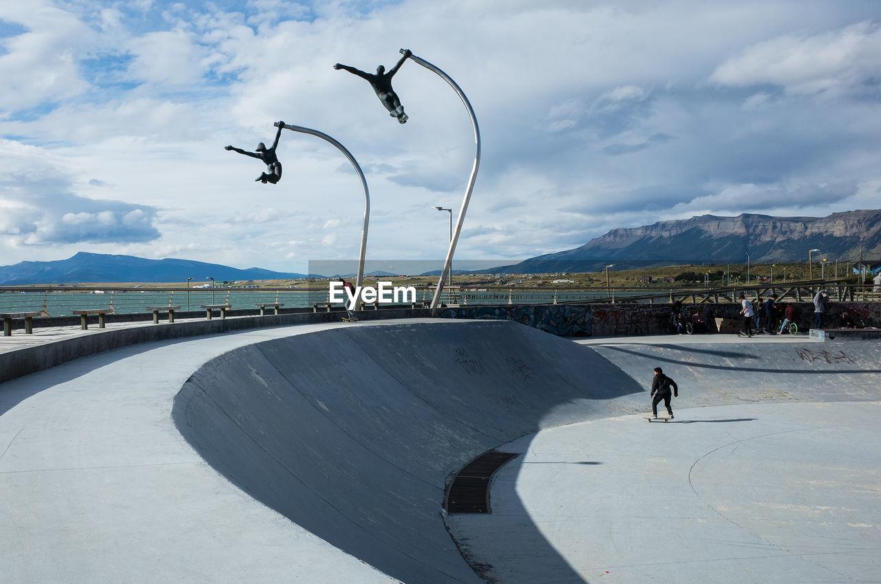 People At Skateboard Park