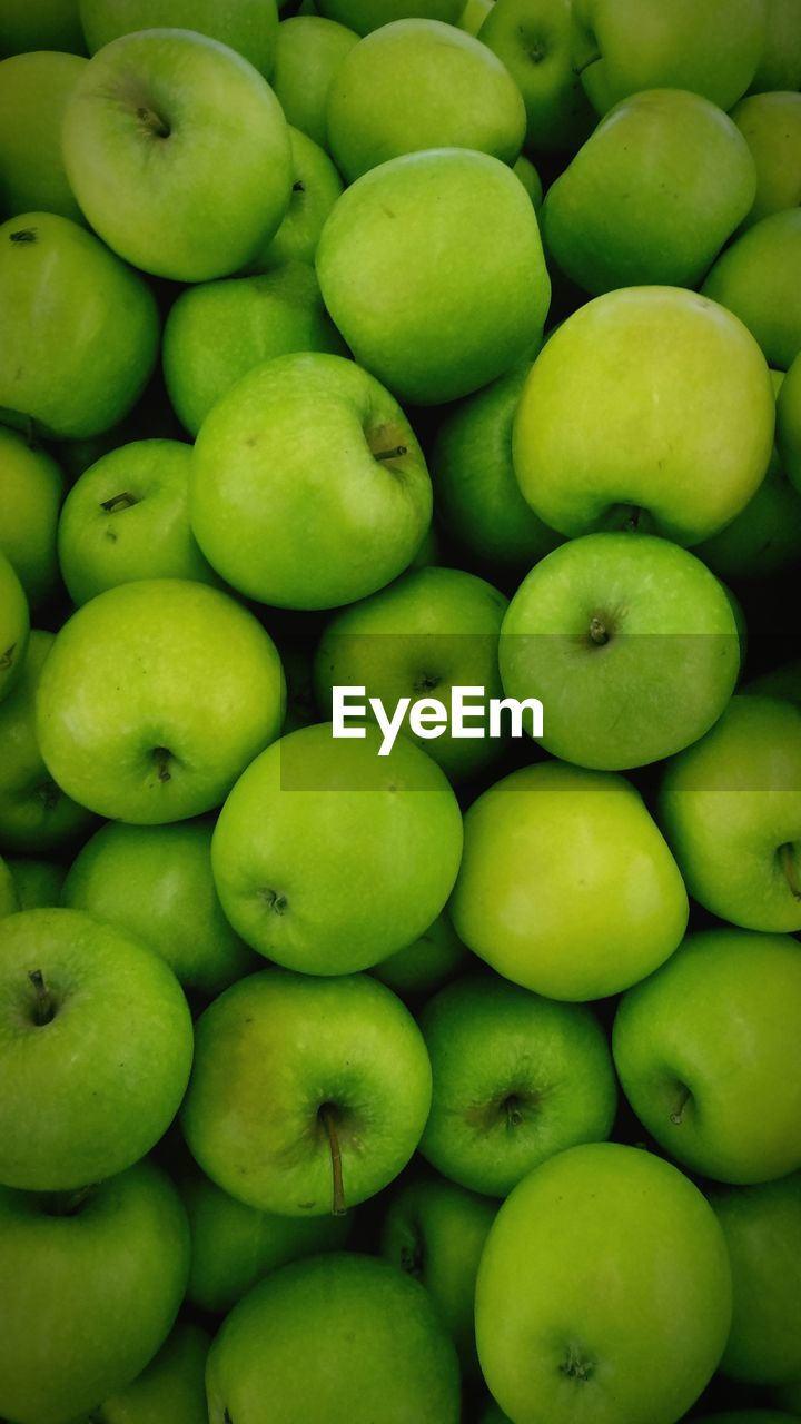 healthy eating, full frame, food and drink, wellbeing, green color, large group of objects, freshness, food, backgrounds, abundance, no people, fruit, apple - fruit, close-up, still life, apple, granny smith apple, market, for sale, repetition