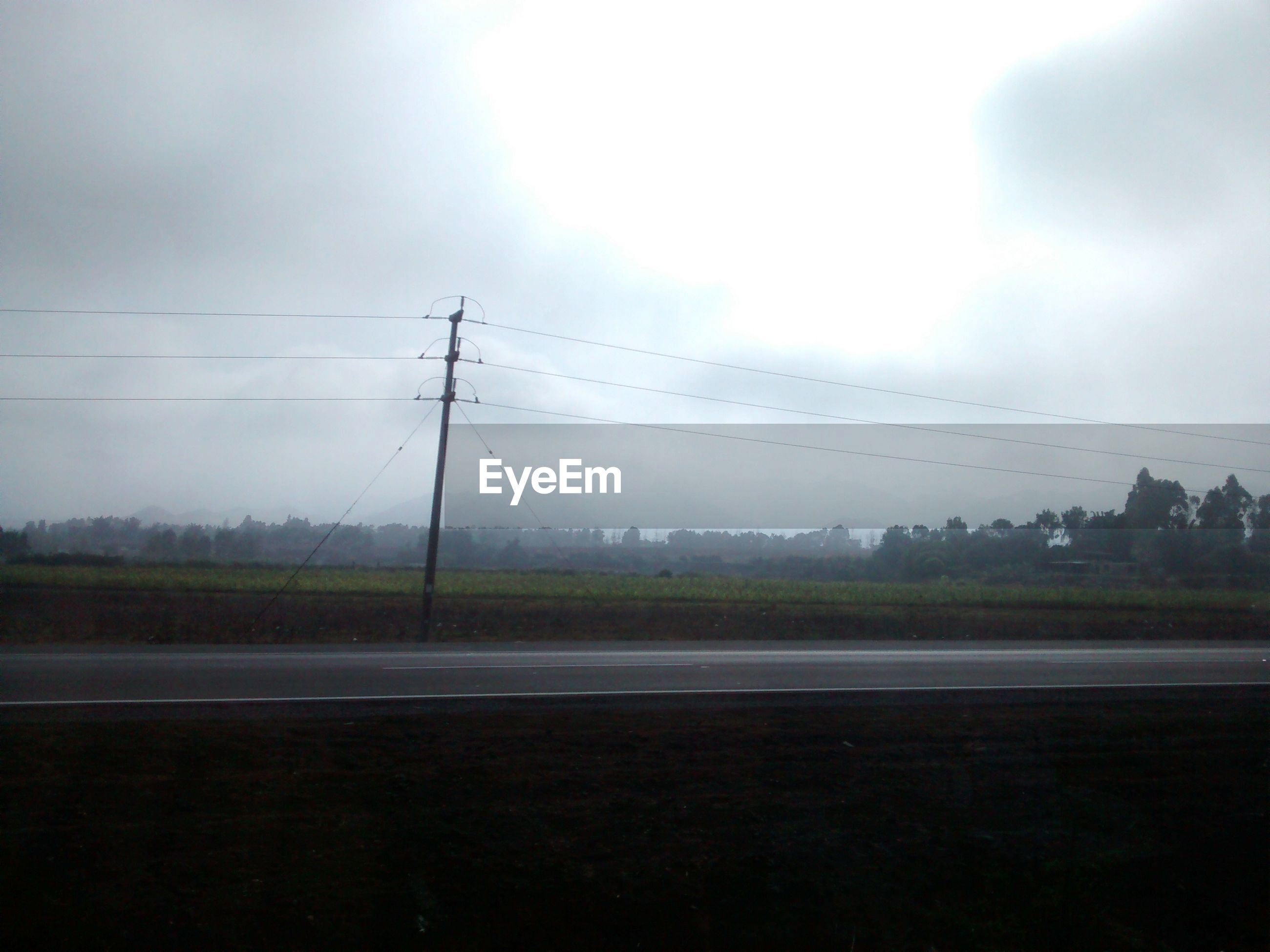 Road among fields