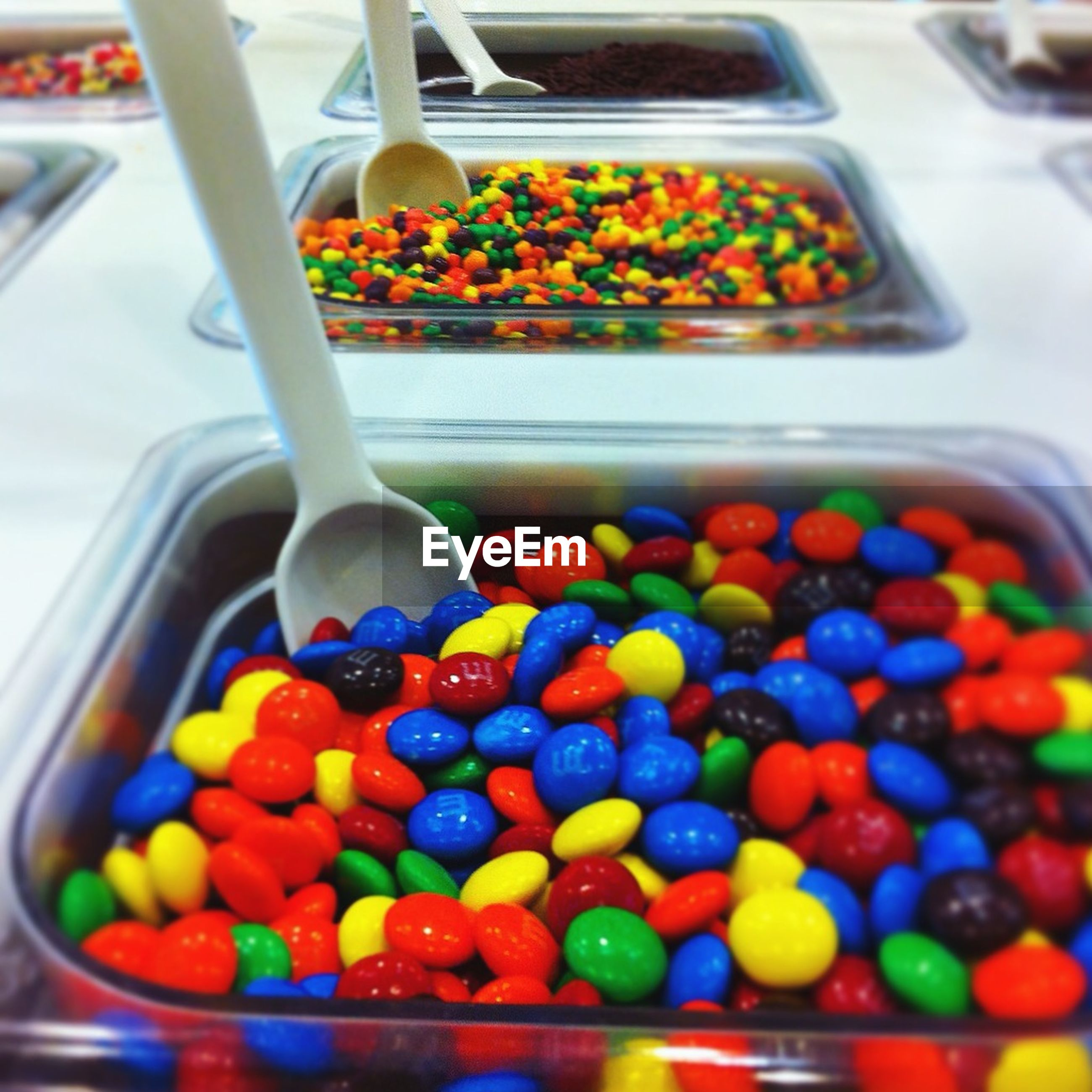 Multi colored candies in store