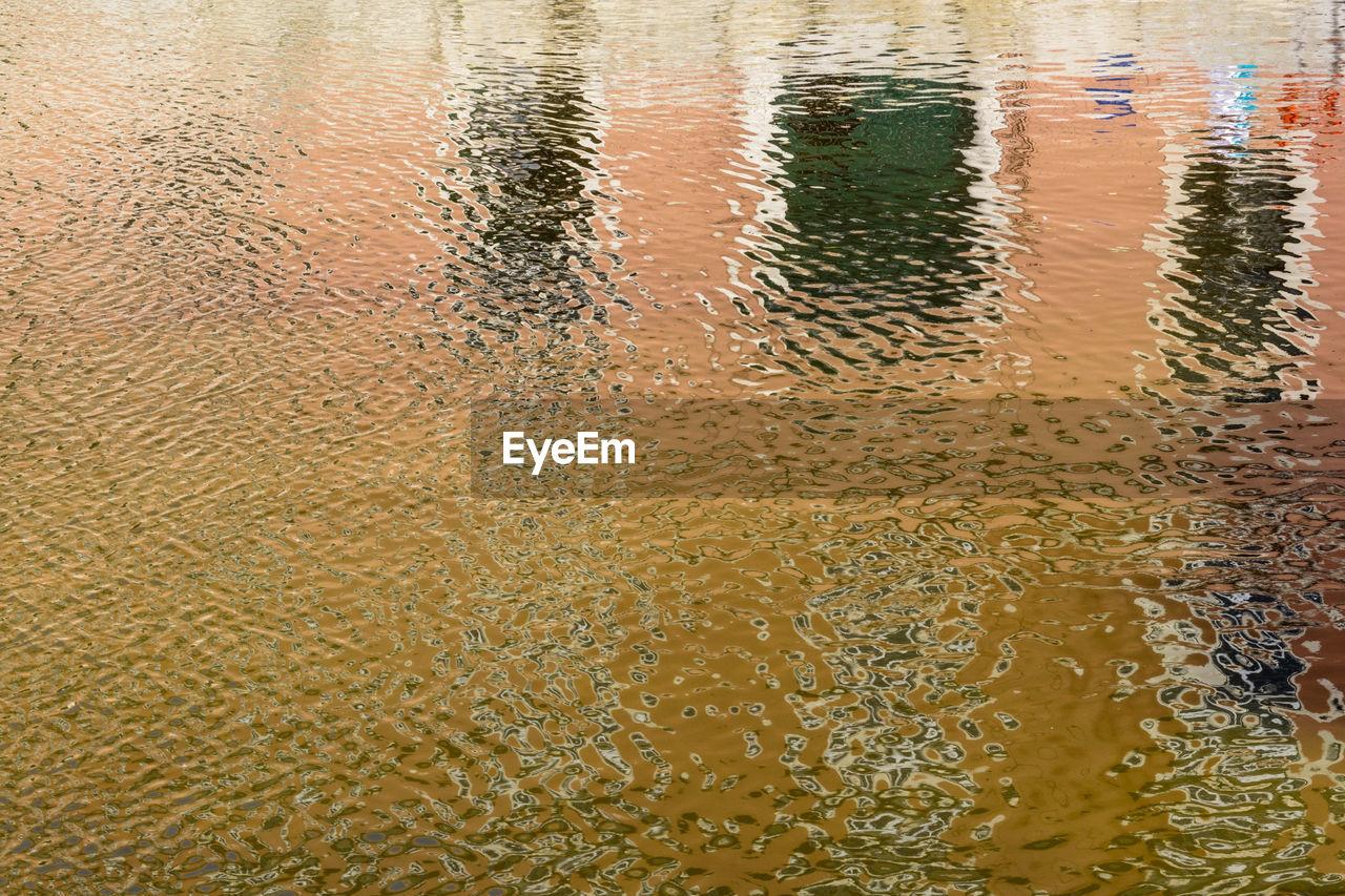 Full frame shot of rippled river