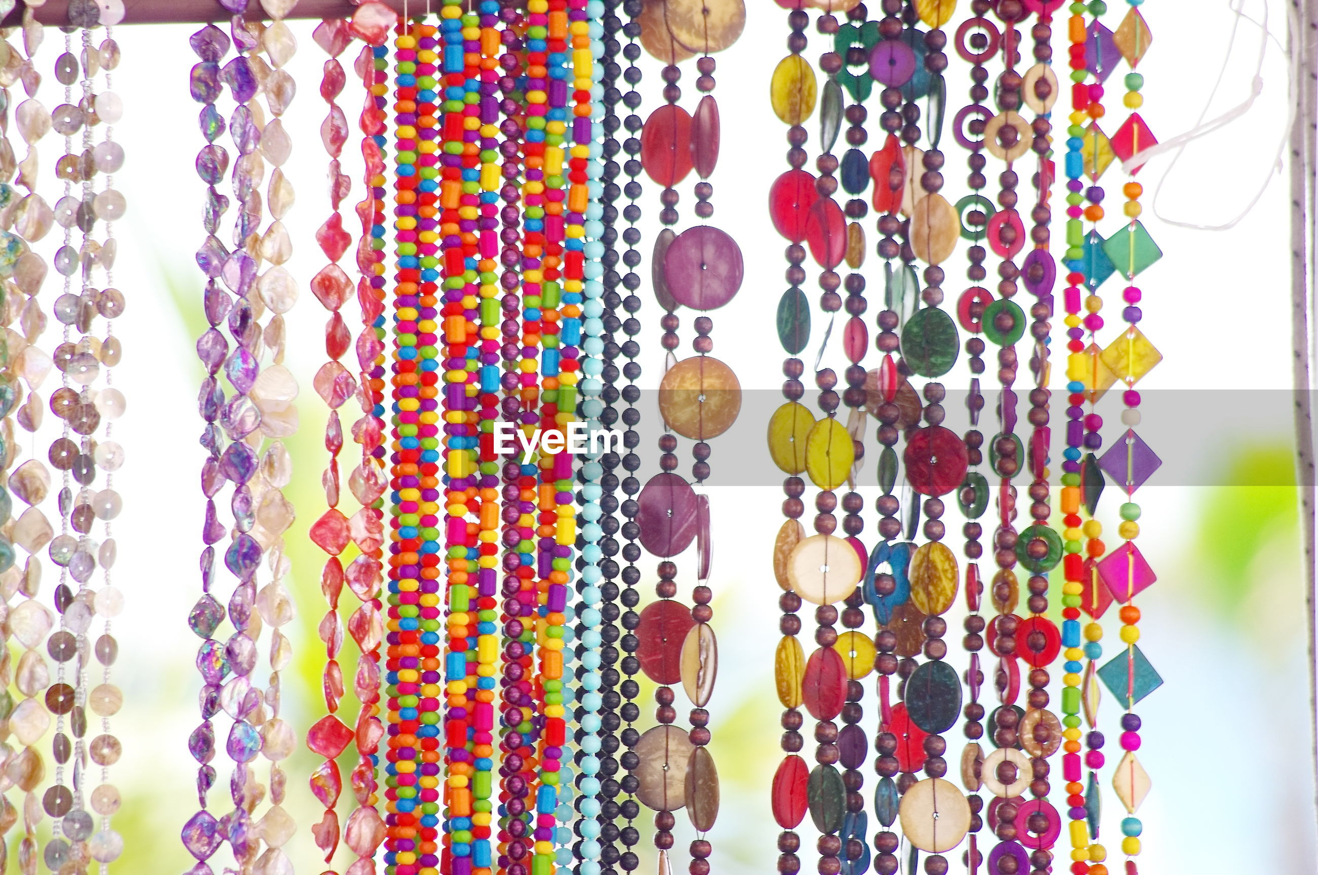 Various beads bracelets for sale at market stall