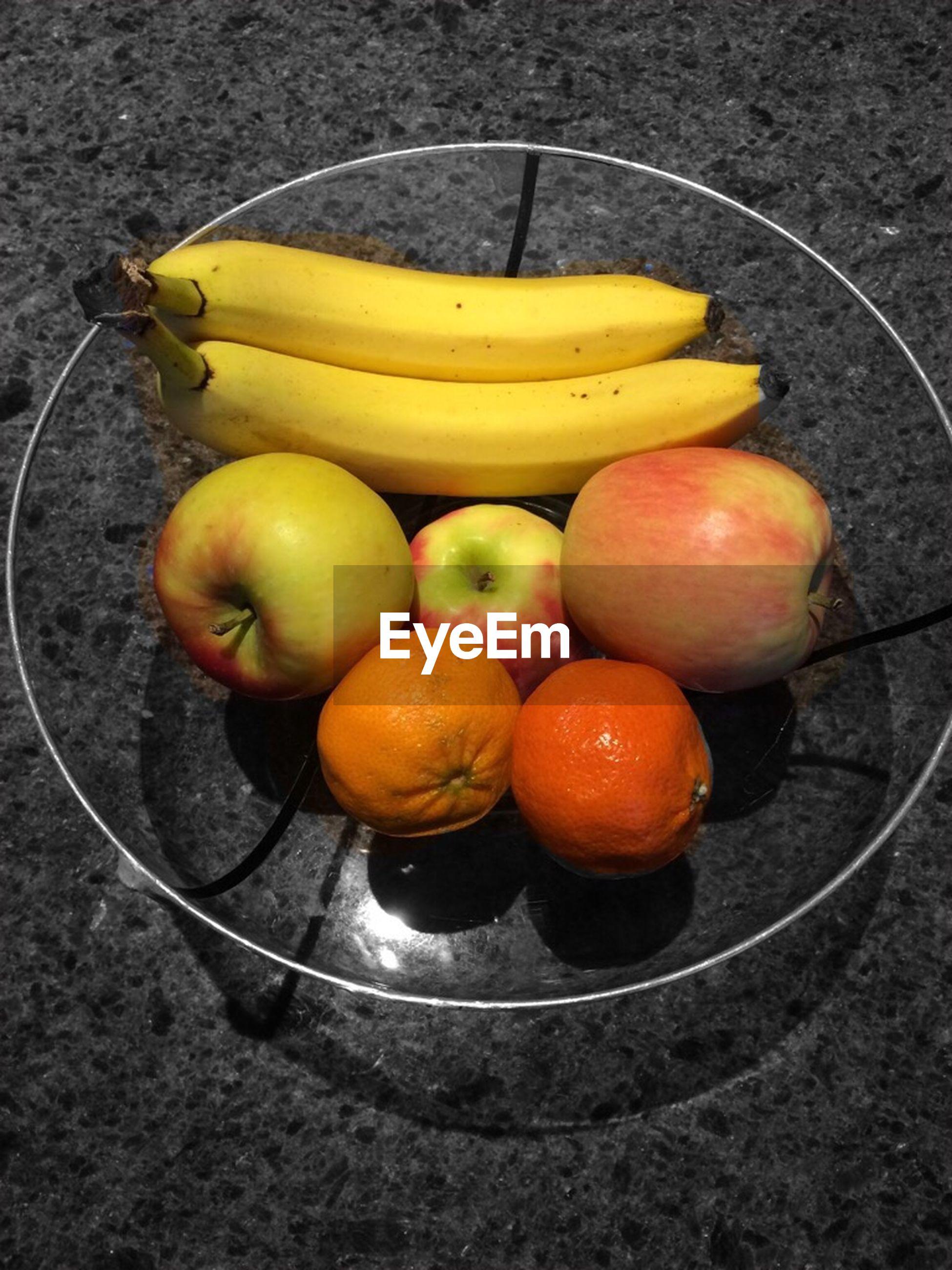 food and drink, food, fruit, healthy eating, freshness, still life, high angle view, table, indoors, bowl, yellow, orange - fruit, basket, vegetable, ripe, organic, close-up, no people, lemon, banana