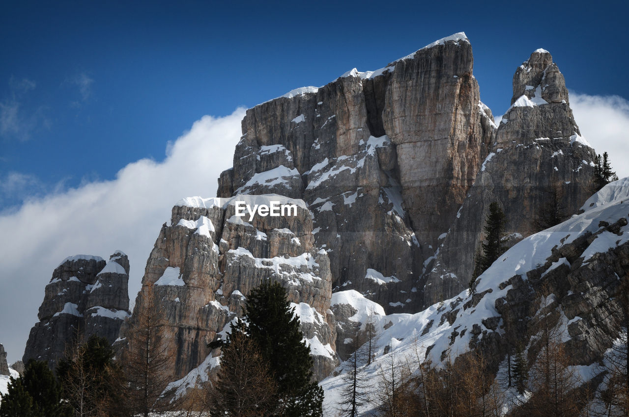 snow, cold temperature, winter, mountain, sky, nature, beauty in nature, physical geography, scenics, tranquility, tranquil scene, day, outdoors, no people, low angle view